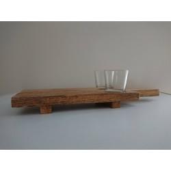 Chop Board met twee glaasjes