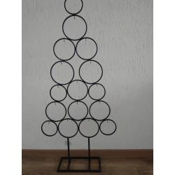 Zwart metalen kerstboom